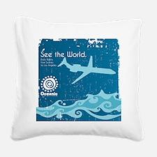 Oceanic Square Canvas Pillow