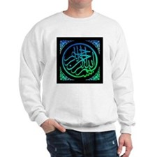 bism_bluegr_on_blk_fillanew Sweatshirt