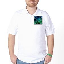 bism_bluegr_on_blk_fillanew T-Shirt