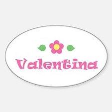 "Pink Daisy - ""Valentina"" Oval Decal"