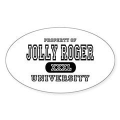 Jolly Roger University Oval Decal