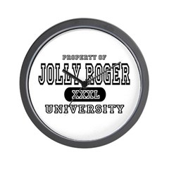 Jolly Roger University Wall Clock