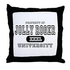 Jolly Roger University Throw Pillow