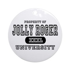 Jolly Roger University Ornament (Round)