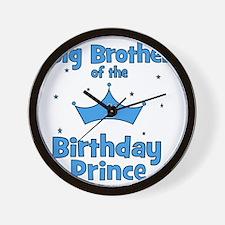 ofthebirthdayprince_bigbrother Wall Clock