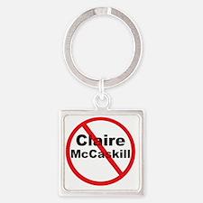 1Claire McCaskill Square Keychain
