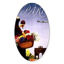 Vintage Paris France Travel Decal