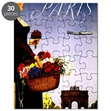 Vintage Paris France Travel Puzzle