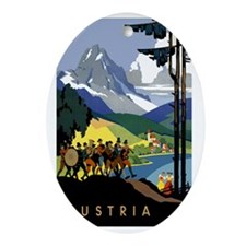 Austria Band Oval Ornament