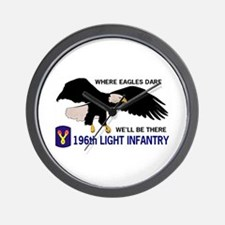 196th LIGHT INFANTRY Wall Clock