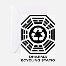 dharmarecycle-01 Greeting Card