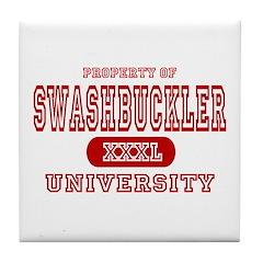 Swashbuckler University Tile Coaster