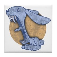 bunny-evil-BLU-T Tile Coaster
