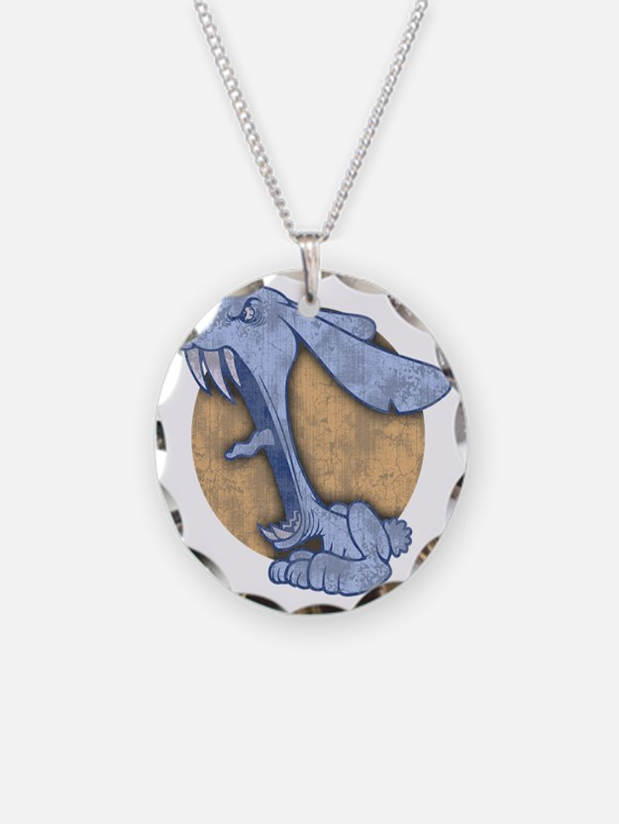 bunny-evil-BLU-T Necklace