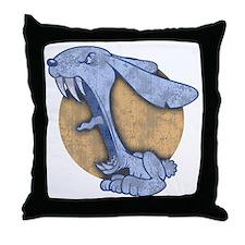 bunny-evil-BLU-T Throw Pillow