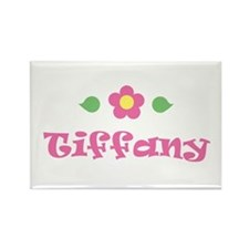 "Pink Daisy - ""Tiffany"" Rectangle Magnet"