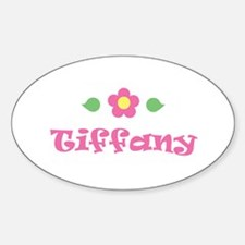 "Pink Daisy - ""Tiffany"" Oval Decal"