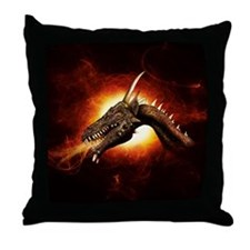 Plasma Dragon Throw Pillow
