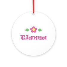 "Pink Daisy - ""Tianna"" Ornament (Round)"