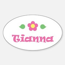"Pink Daisy - ""Tianna"" Oval Decal"