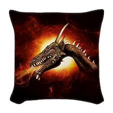 Plasma Dragon Woven Throw Pillow