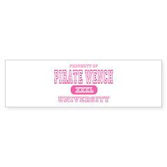 Pirate Wench University Bumper Bumper Sticker