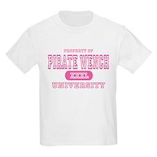 Pirate Wench University Kids T-Shirt