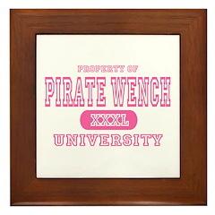 Pirate Wench University Framed Tile