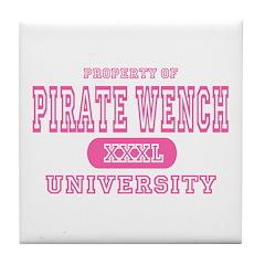 Pirate Wench University Tile Coaster