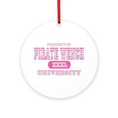 Pirate Wench University Ornament (Round)