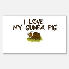 Guinea Pig Love Rectangle Decal