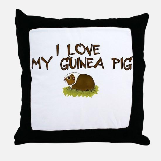 Guinea Pig Love Throw Pillow