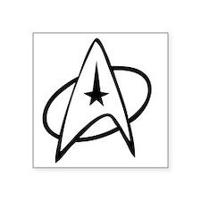 """StarTrek_Kirk_1 Square Sticker 3"""" x 3"""""""