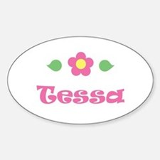 "Pink Daisy - ""Tessa"" Oval Decal"