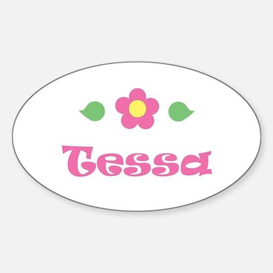 "Pink Daisy - ""Tessa"" Oval Decal"