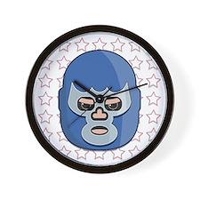 lucha libre blue demon tshirt Wall Clock