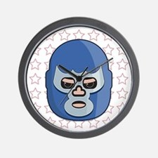 lucha libre blue demon tshirt Wall Clock
