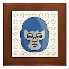lucha libre blue demon tshirt Framed Tile
