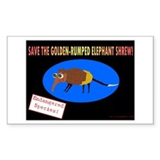 Save the Golden Rumped Elephant Shrew Decal