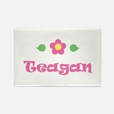 "Pink Daisy - ""Teagan"" Rectangle Magnet"