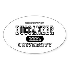 Buccaneer University Oval Decal