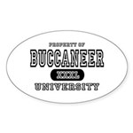 Buccaneer University Oval Sticker