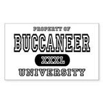 Buccaneer University Rectangle Sticker
