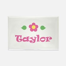 "Pink Daisy - ""Taylor"" Rectangle Magnet"