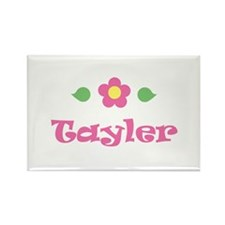 "Pink Daisy - ""Tayler"" Rectangle Magnet"
