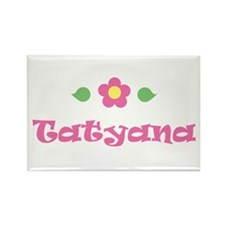 "Pink Daisy - ""Tatyana"" Rectangle Magnet"