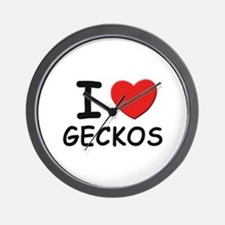 I love geckos Wall Clock