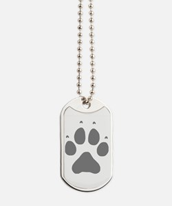 Wolf Paw Print Dog Tags