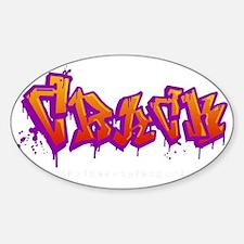 crack_black Sticker (Oval)