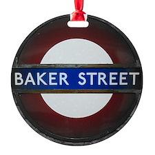 Baker Street Round Ornament